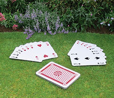 vintage wedding hire outdoor party games giant playing cards