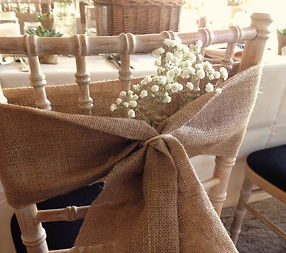 hire and buy your rustic or vintage table numbers, chair bows or decor for your wedding or party