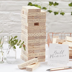 rustic vintage wedding ginger ray wooden jenga guestbook