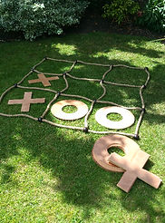 vintage wedding hire outdoor party games giant noughts and crosses
