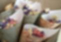 map cones natural biodegradable confetti dried delphinium petal confetti dried lavender confetti cones