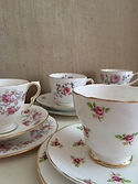vintage wedding hire china afternoon tea party set cup saucer