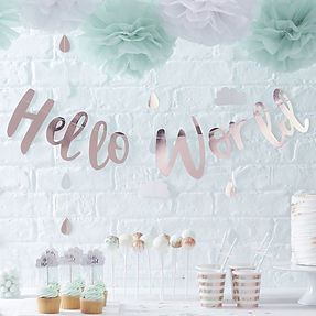 buy your rustic or vintage baby shower party balloons, gifts and decor