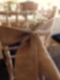 hessian chair bows