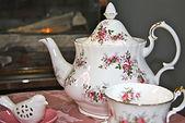 vintage wedding hire china afternoon tea party set teapot