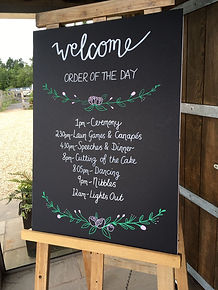 hire and buy your rustic or vintage wedding chalkboard welcome to your wedding signs