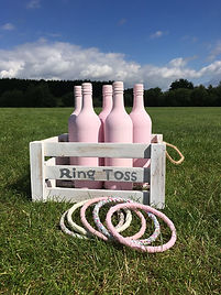wedding party outdoor games vintage traditional ring toss tin can game