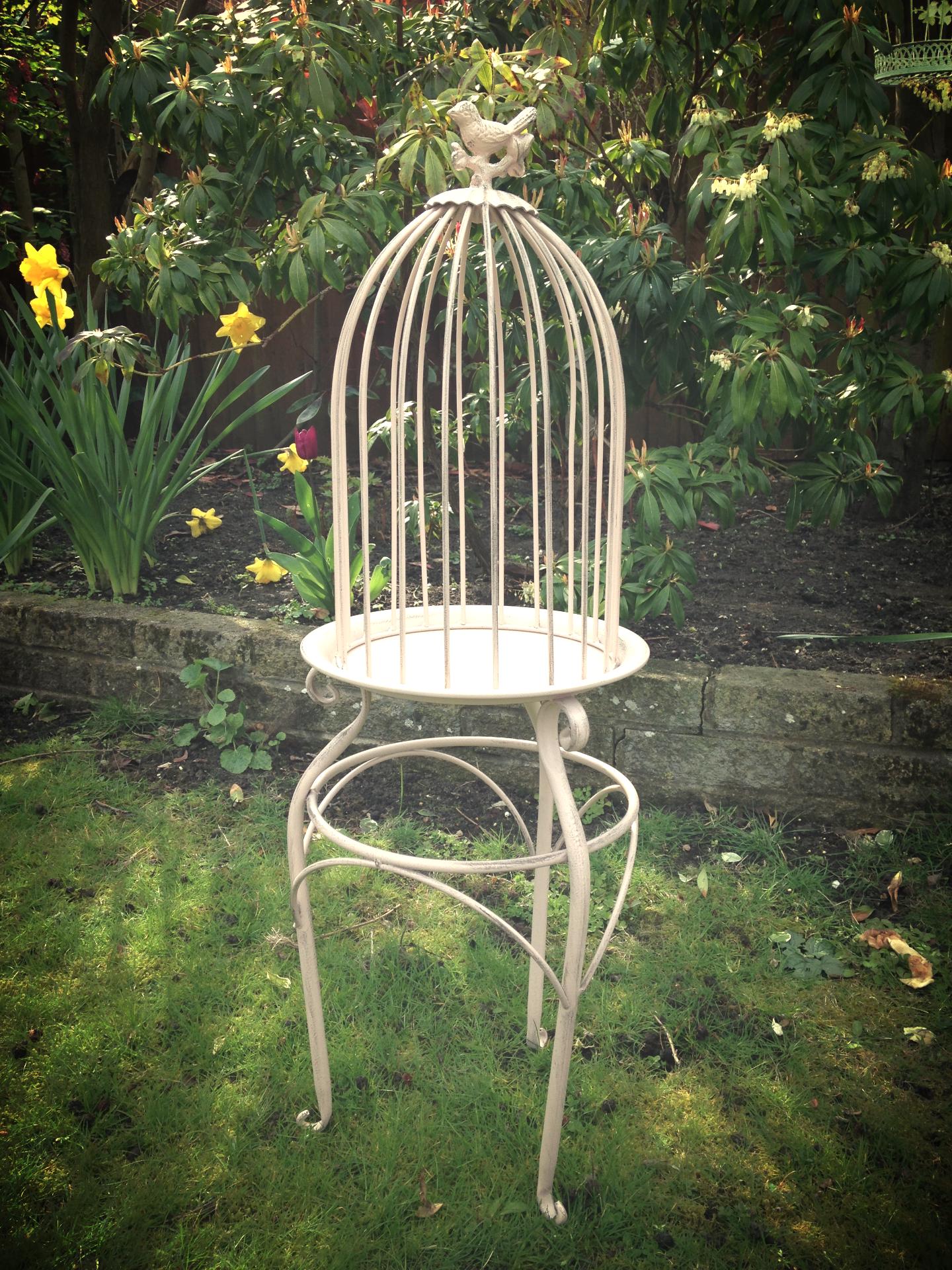 Standing Pink Bird Cage