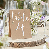 ginger ray wedding table number tent