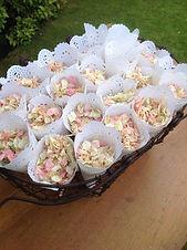 doily cones natural biodegradable confetti dried delphinium petal confetti dried lavender confetti cones