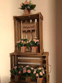 seating plan wedding map vintage frame crate