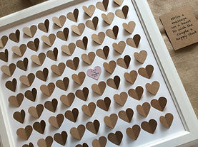 framed 3d heart guestbook rustic
