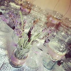 Jam Jars with Lace