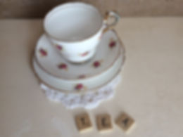 vintage wedding hire china afternoon tea party set cup saucer trio cake stand teapot