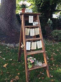 rustic ladders seating plan wedding map vintage frame