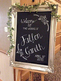 vintage welcome wedding hire sign rustic