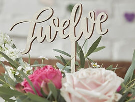 wedding table decor numbers