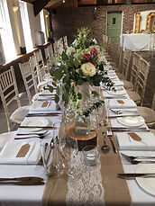 vintage wedding hire hessian table number