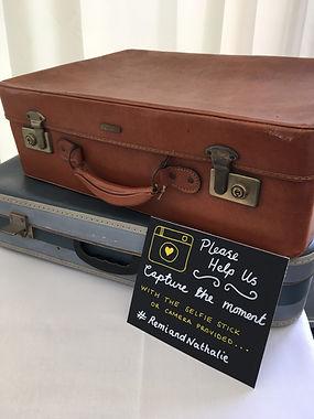 vintage wedding hire suitcases