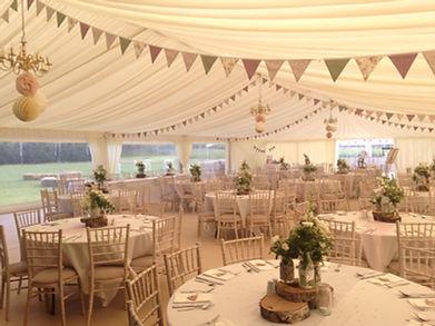 vintage wedding hire bunting pink