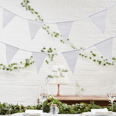 vintage wedding hire hessian lace bunting rustic