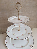 vintage wedding hire china afternoon tea party set cake stand