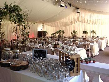 vintage wedding hire venue design