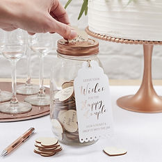 ginger ray wishing jar guestbook rustic vintage wedding