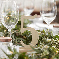 ginger ray wedding table number