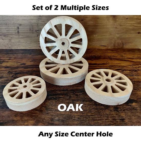 Oak Wheels w/ Hub Cutout