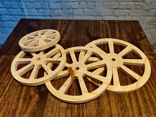 Pine Wagon Wheels