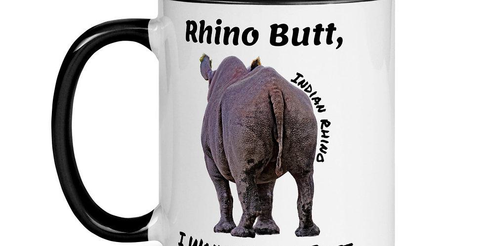 Rhino Butt (Mug with Color Inside)