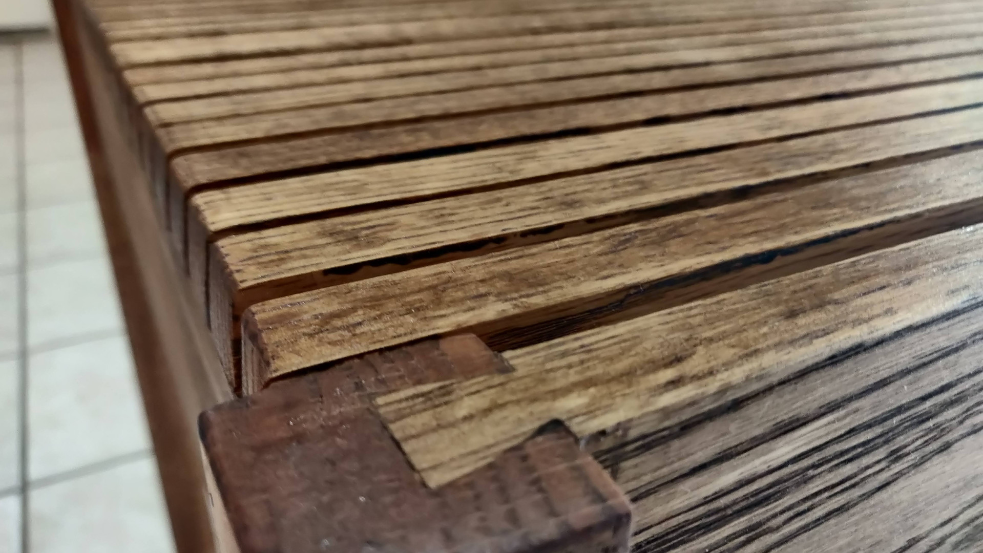 oak wood end table