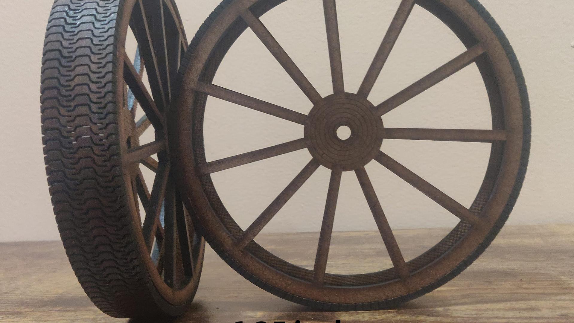 6.25 inch wheels with tread