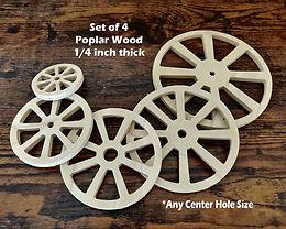 1/4 inch Wooden Wheels (Poplar)