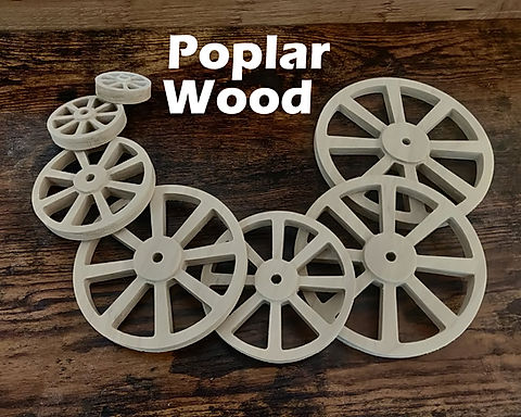 Set of Poplar Wheels