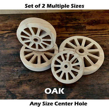 Oak Wheels w/ Hub Cutout & Roundover edge