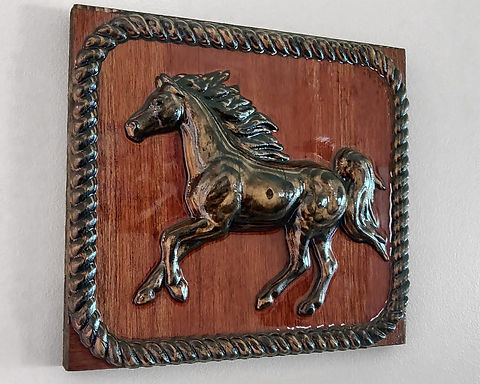 Running Horse 3D Carving