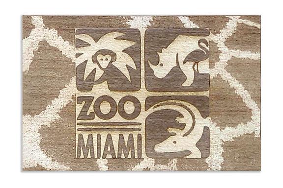 Zoo Miami Logo w/ Giraffe Surround
