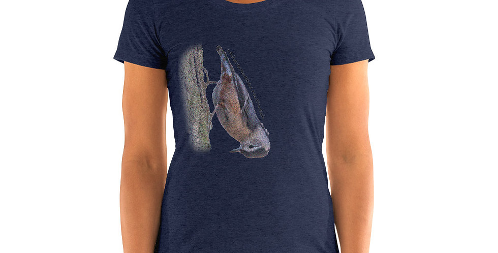 White-breasted Nuthatch Ladies' short sleeve t-shirt