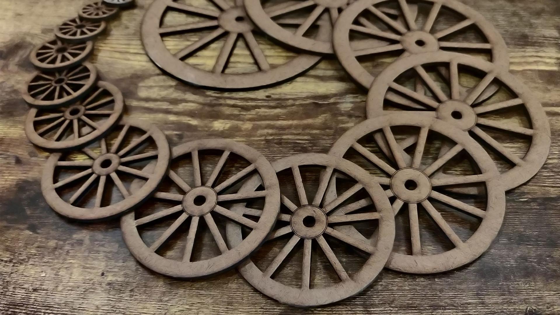 Waggon wheels all sizes