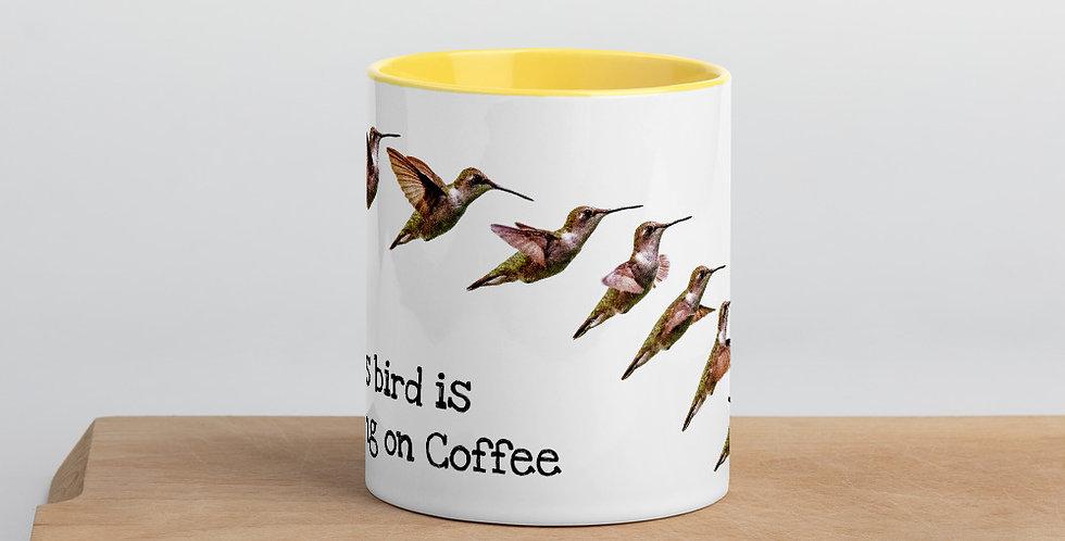 Hummingbird Mug with Color Inside