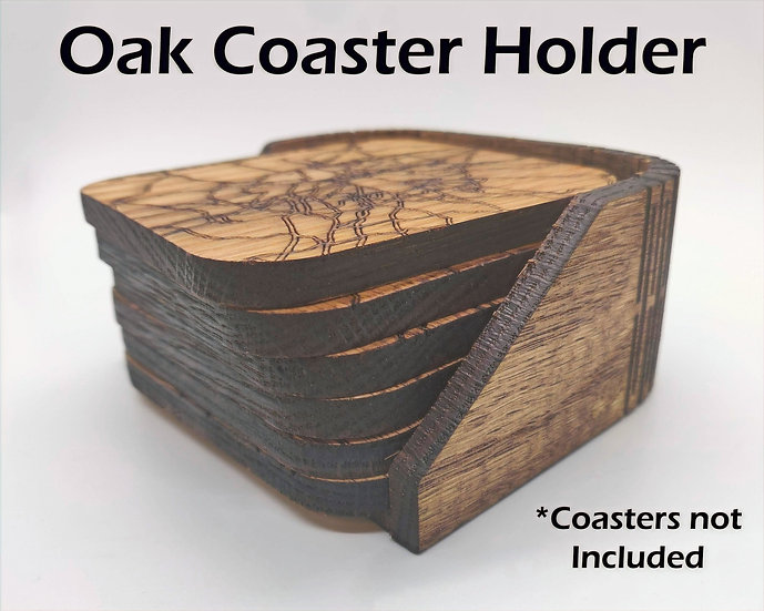 Oak Coaster Holder
