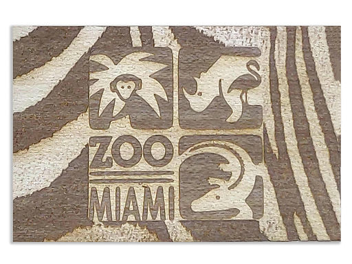 Zoo Miami Logo w/Zebra Surround