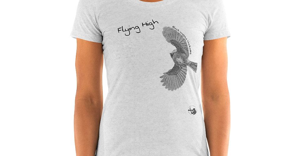 Chickadee Flying High (Ladies' short sleeve t-shirt)