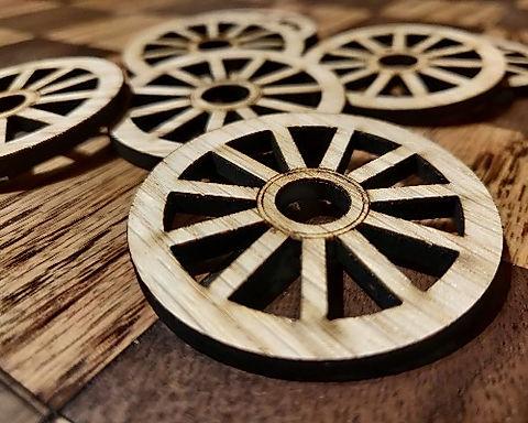 Oak Veneered Craft Wheels