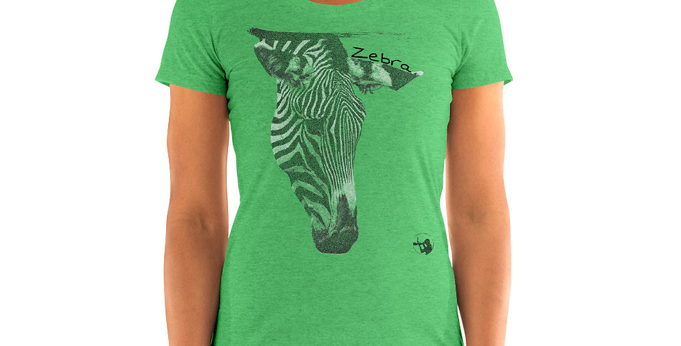 Grazing Zebra (Tri-Blend T-shirt)