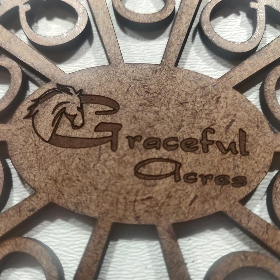 laser engraved company logo