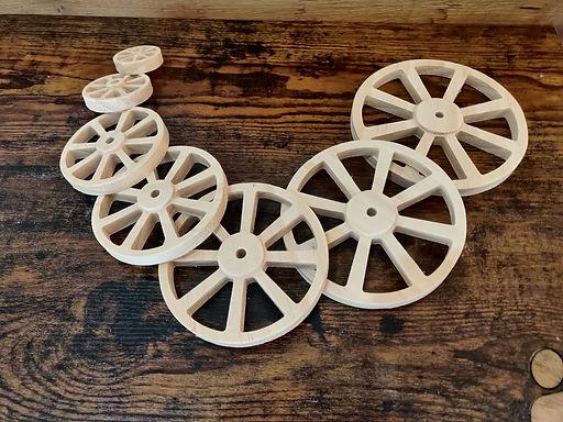 Set of Pine wheels