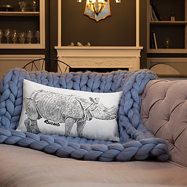 Rhino Pillow (Single Side)